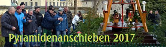 Bild: Teichler Wünschendorf Pyramiden  Anschieben 2017