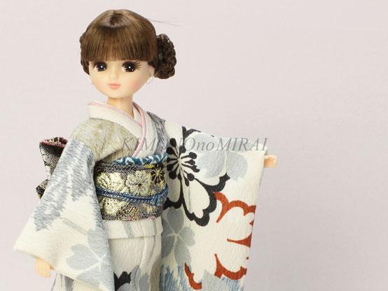 ブライス振袖,リカちゃん振袖,kimono Blythe,kimono DAL