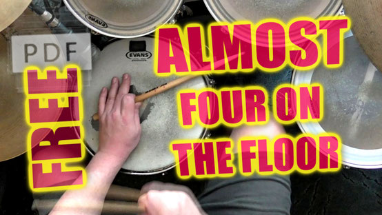 free pdf almost four on the floor happydrums drum set groove