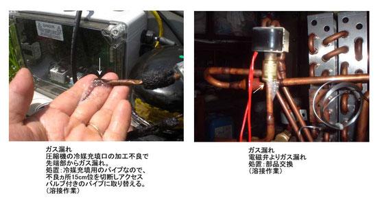 ガス漏れ 冷えない 修理 冷蔵庫 冷凍庫