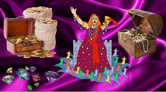 Les marchands qui se sont enrichis grâce à Babylone la grande seront attristés par la disparition. Malheur! Malheur! La grande ville qui était habillée de fin lin, de pourpre et d'écarlate, et parée d'or, de pierres précieuses et de perles!