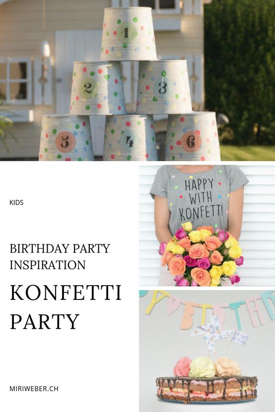 Geburtstag, 6 jährig, Mädchen, Idee, Themen Geburtstag, Konfetti, Spielideen, Kuchen, Inspiration, DIY, 7  jährig, farbig, bunt, Mama Blog Schweiz
