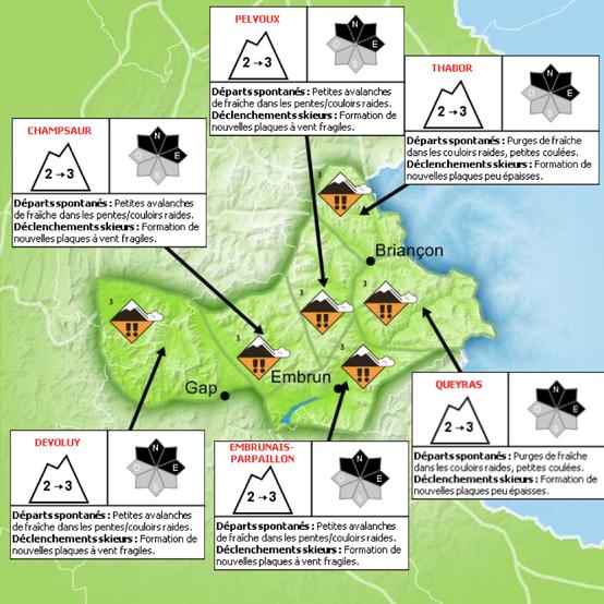 Bulletin du risque d'avalanche de Météo France