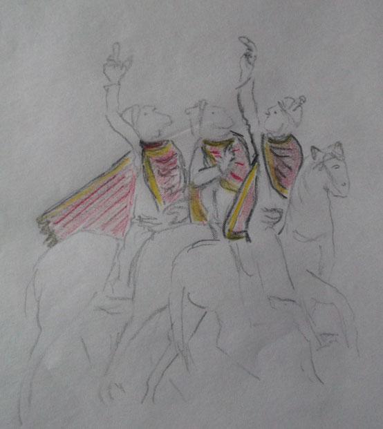 Zeichnung nach dem St Alban Psalter