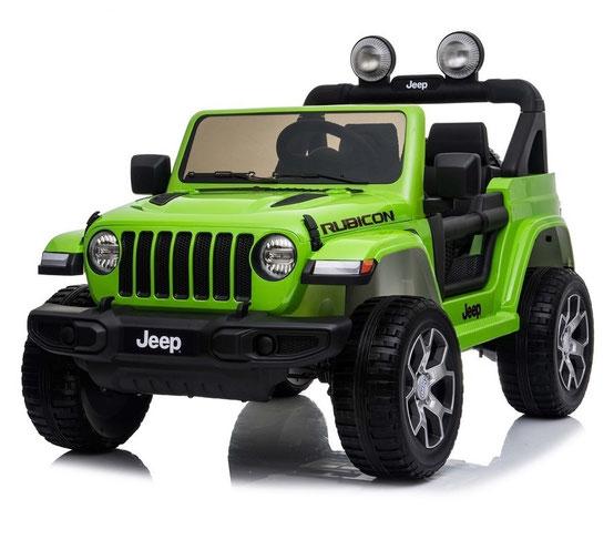 Jeep Wrangler Rubicon/Allrad/Kinderauto/ Kinder Elektroauto/lizensiert/2 Sitzer/grün lackiert/