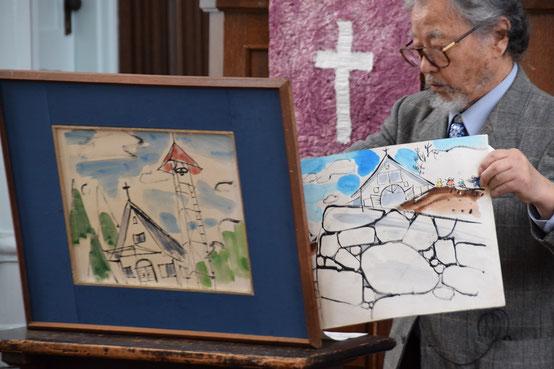 2020年3月22日(日) 十文字平和教会の現会堂の献堂物語・『一つぶのたね』を作者の満さんが旭東教会で上演のひとこま