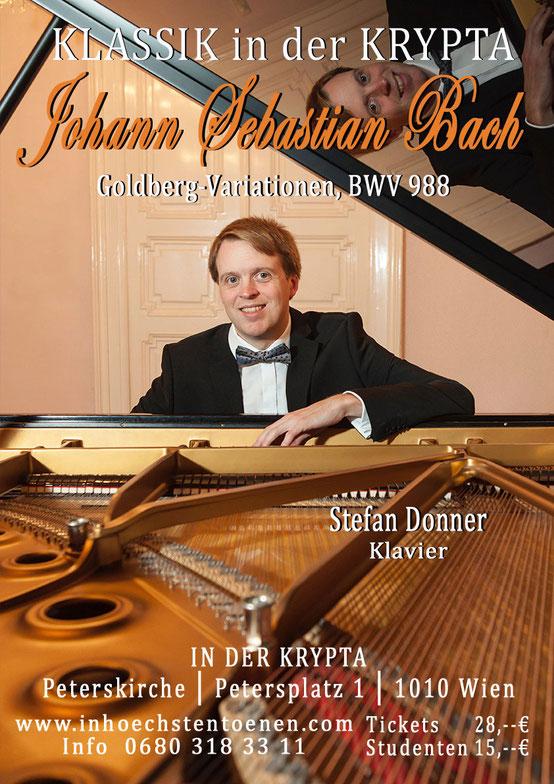 Klavierkonzert  Bach – Mozart – Schubert - Liszt  in der KRYPTA