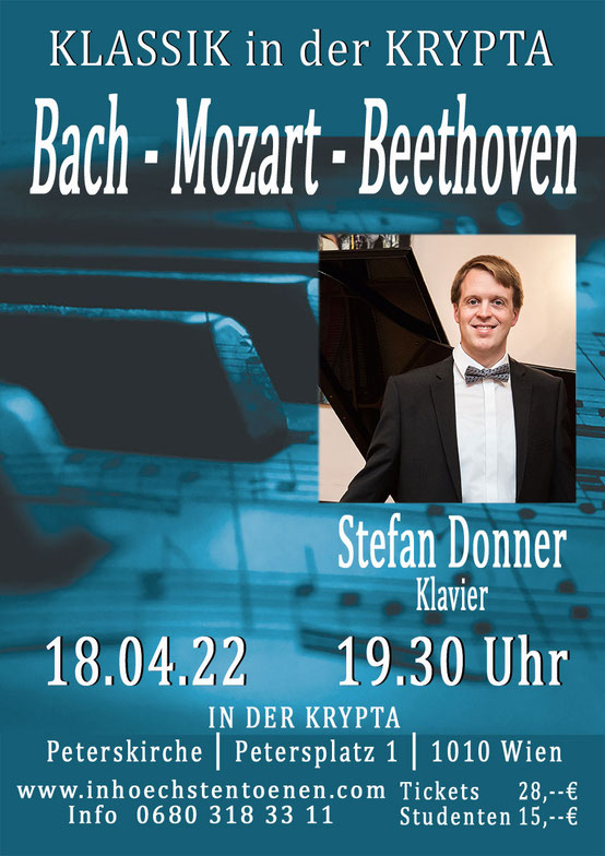 Klavierkonzert  Mozart – Beethoven -Wagner - Reger - Liszt  in der KRYPTA