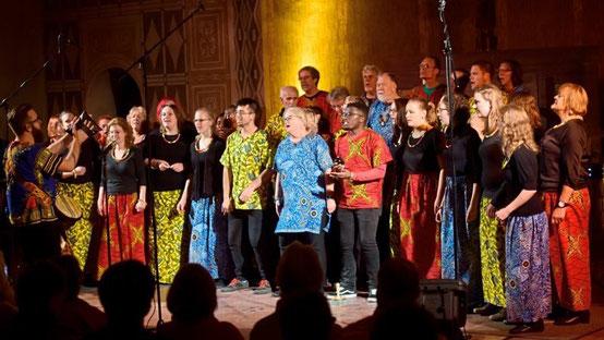 Gospel- und Popkonzert in der Lutherkirche unter anderem mit dem Afrika-Gospelchor Njabulo. Foto: Hermann Pentermann