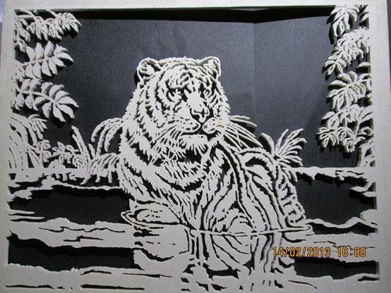 Tigre al guado