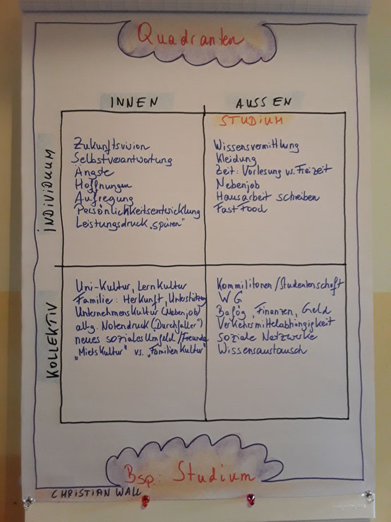 Aqual, Quadranten, Innen-Außen, Individuum, Kollektiv