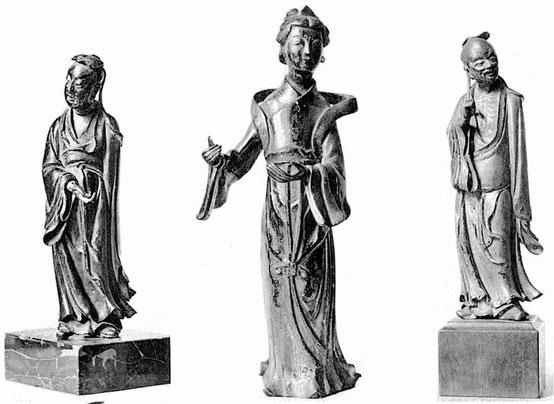 Sculptures de bronze de petites figures humaines. — Gaston Migeon (1861-1930) : L'art chinois. Éditions Albert Morancé, Paris, 1925.