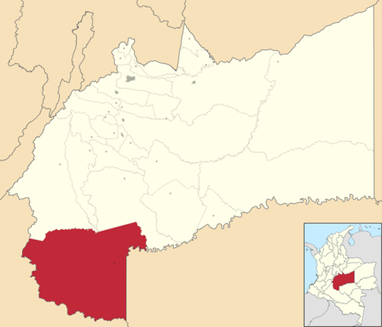 Location of the Macarena region (Source Wikicommons)