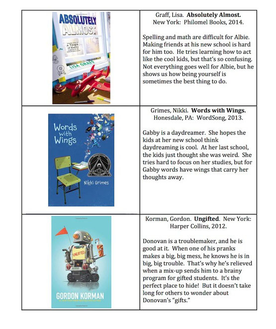 fiction suggestions for readers in grades 2-6