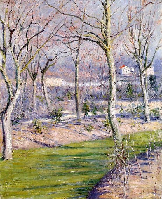 《冬のプチ・ジェヌヴィリエの庭》1894年