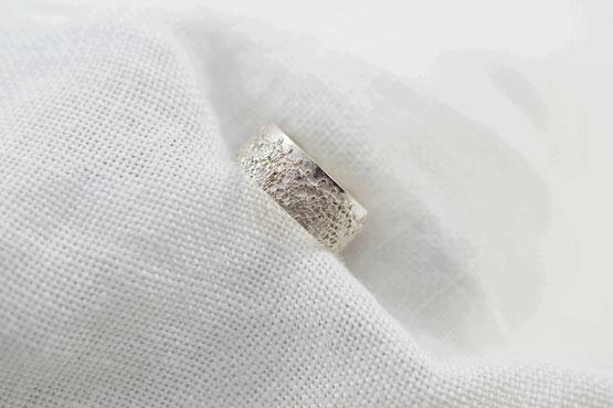 bague haute couture argent 925 relief de dentelle