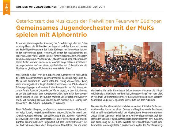 Die Hessische Blasmusik, Juni 2014