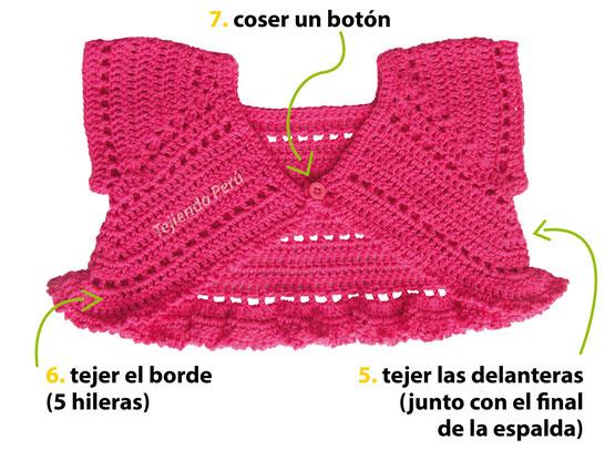 Bolero mariposa tejido a crochet para bebés y niñas, paso a paso!
