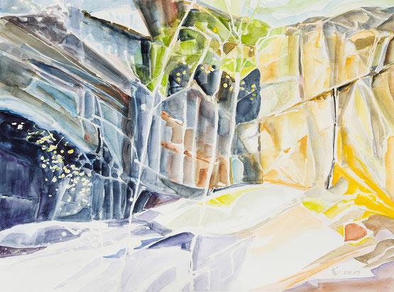 """Vögel"",  Aquarell , 2008, 48 x 27 cm"