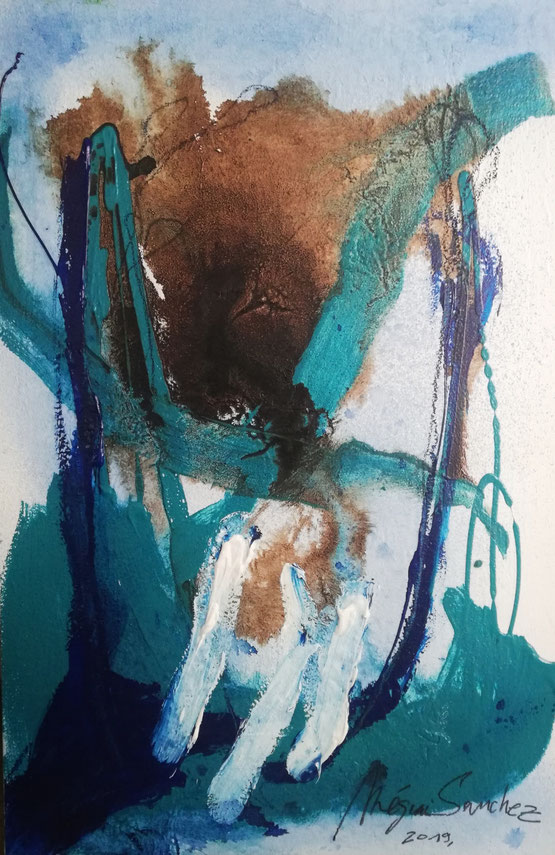Peinture sur toile format 119/78.