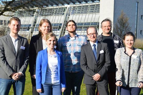 Projektteamet i marts 2014 i Kiel