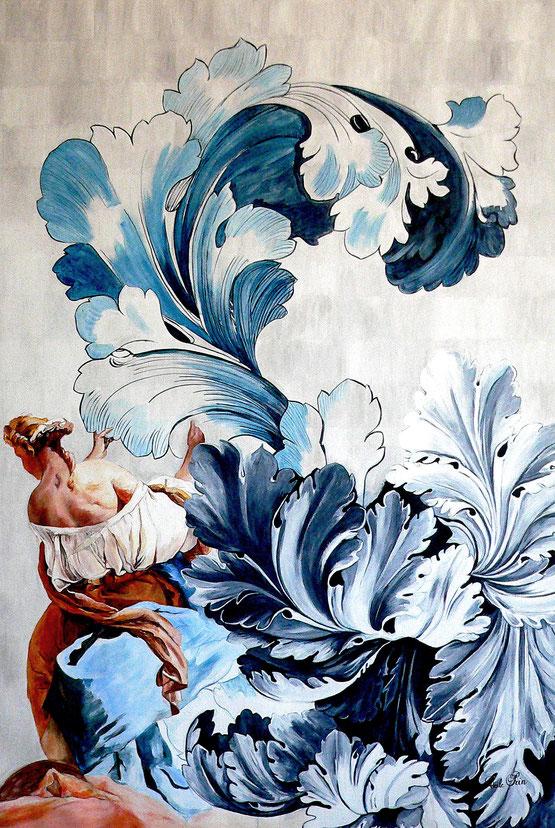 ANGELIQUE   acrylique/toile, 195 x 130