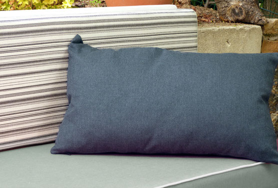 traversin toile outdoor rayée made in france