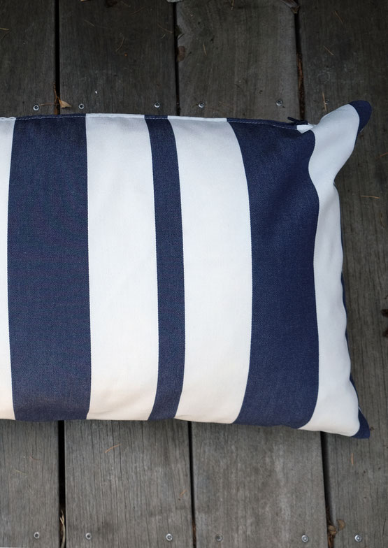 coussin toile outdoor rayée made in france