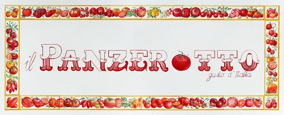 """Il logo sul """"bancone"""""""