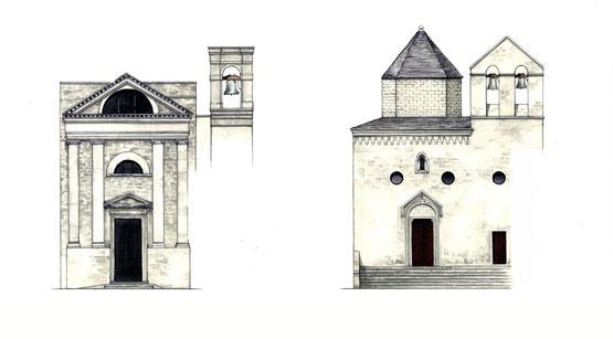 La chiesa di San Giovanni Battista, una delle più antiche della città, e la chiesa dello Spirito Santo edificata nel 1396.