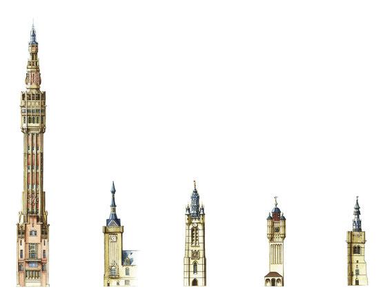 Lille, Bailleul , Douai, Bergues, Béthune