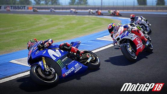 MotoGP 18 - Rennfahrt mit scharfen Kurven