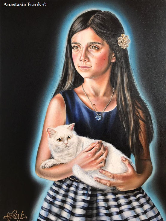Sophia/Portrait, 70 x 100 cm, oil on canvas (2017), Anastasia Frank
