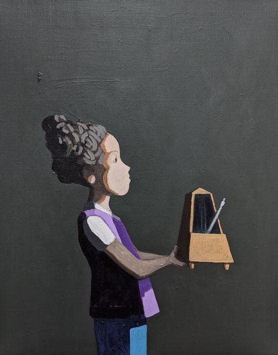 the metronome - Acryl auf Leinwand, 50x40cm, 2019 | verkauft