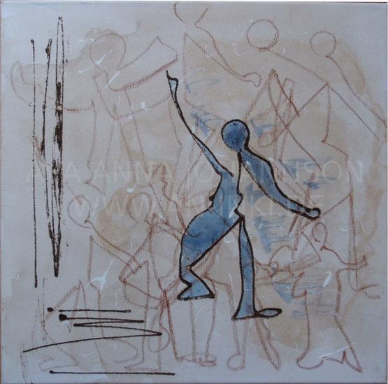 """Sita"" (2017), Acryl-Mischtechnik, 40x40cm"