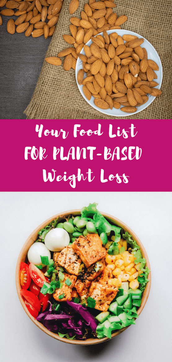Going plant based for weight loss or health? Know what to eat for plant-based weight loss & how to make vegetarian recipes & vegan meals. Get your plant-based food list & protein sources without meat. #plantbased #weightlossplan #vegetarian #vegan