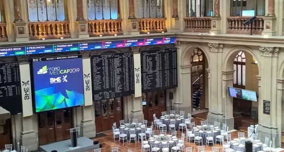 """""""Foro Medcap 2019"""" der Börse in Madrid."""