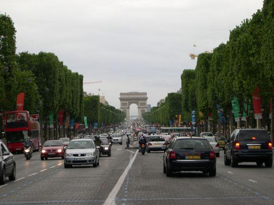 Les Champs Élysées et L'arc de Triomphe, Paris