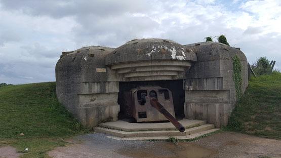Eine der komplett erhaltenen 15cm Kanonen
