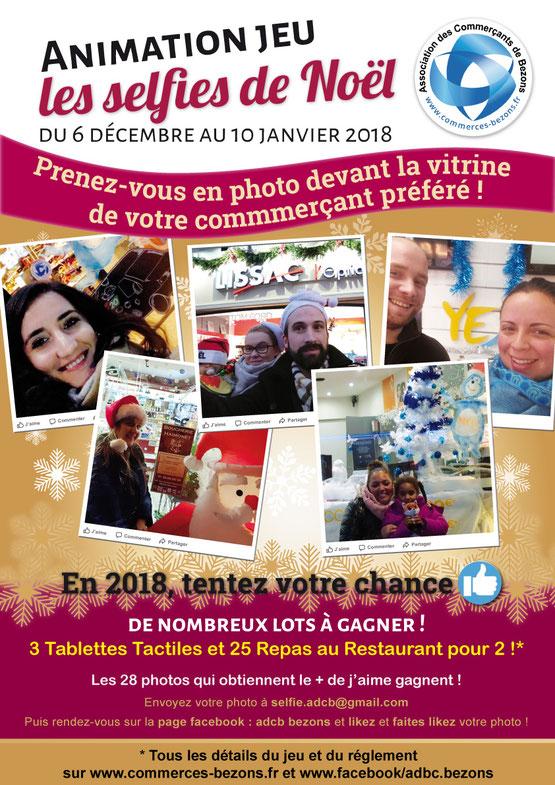 Prenez vous en selfies devant les vitrines de Noël de l'Association des Commerçants de Bezons
