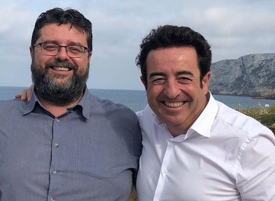 Bati Bordes y Pepe Mendoza vuelven a reunirse en El Marino Rotes para aprender de vinos