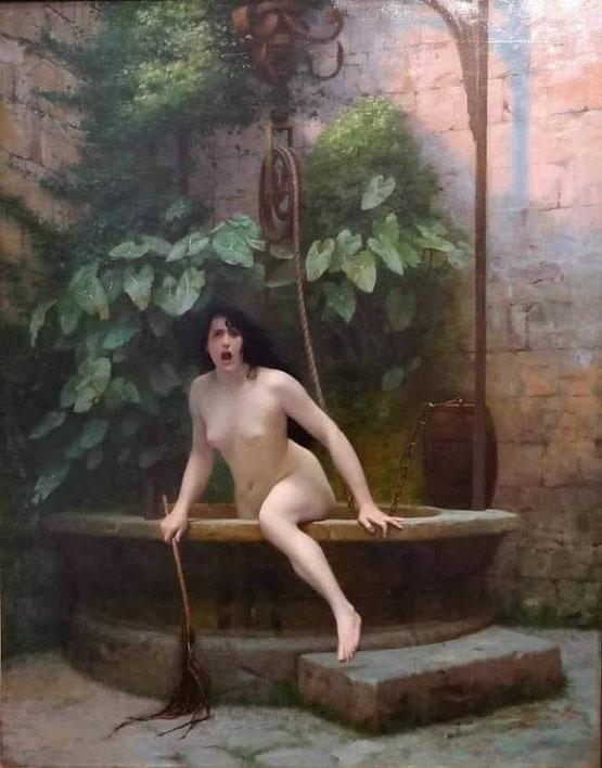"""Jean-Leon Gerome, """"la Verità che esce dal pozzo"""", 1896"""