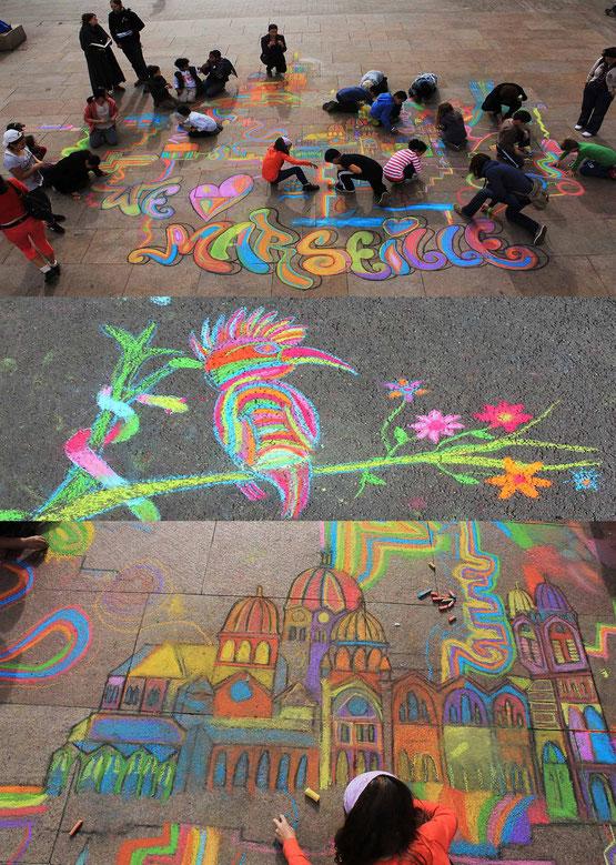 Straßenmalerei Veranstaltungen für Feste und Veranstaltungen