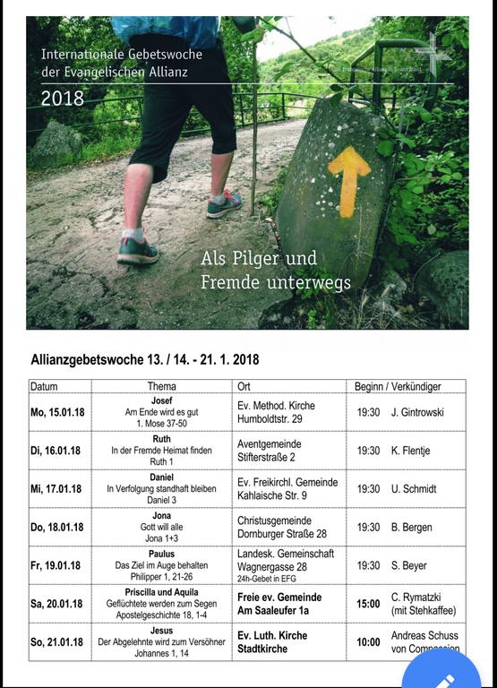 Evangelische Allianz Gebetswoche 2018