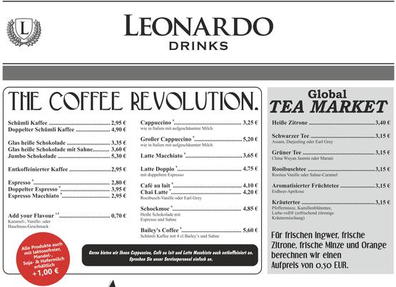 Cafe Leonardo© - Kaffee und Tee in Varianten und Vielfalt