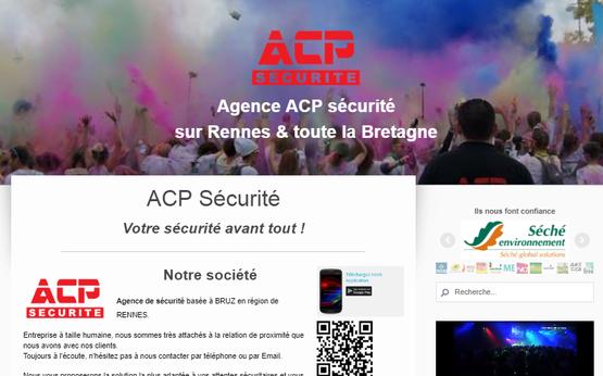 Site internet de ACP Sécurité