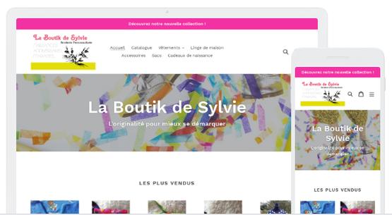 Site et Application mobile de La Boutik de Sylvie