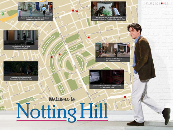 map notting hill movie location endroit film tournage coup de foudre