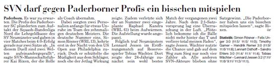 1. Spieltagswochenende Kieler Nachrichten