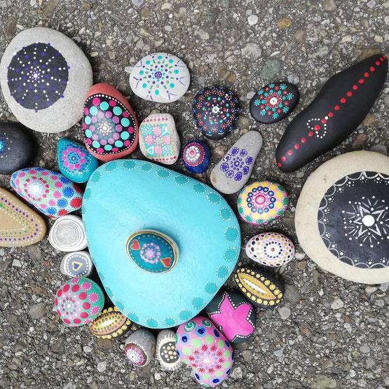 Mandala Steine malen - Workshop mit Lea, Yogaschule Raum der Achtsamkeit in Rupperswil bei Aarau